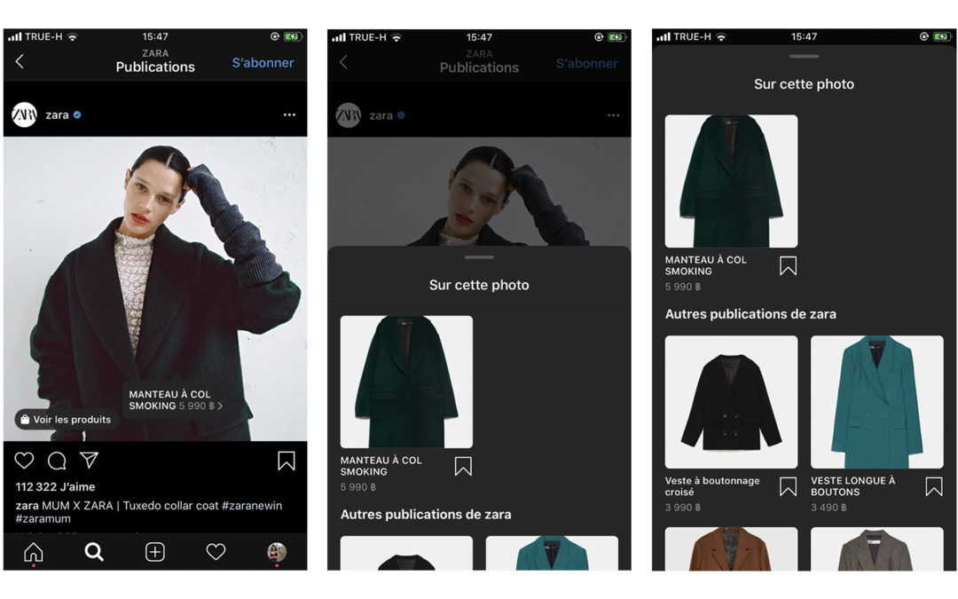 Instagram shopping, la vente sur Instagram
