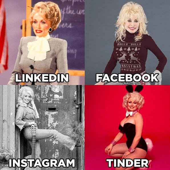 Facebook / Instagram / LinkedIn / Tinder : le dernier meme à la mode sur Instagram