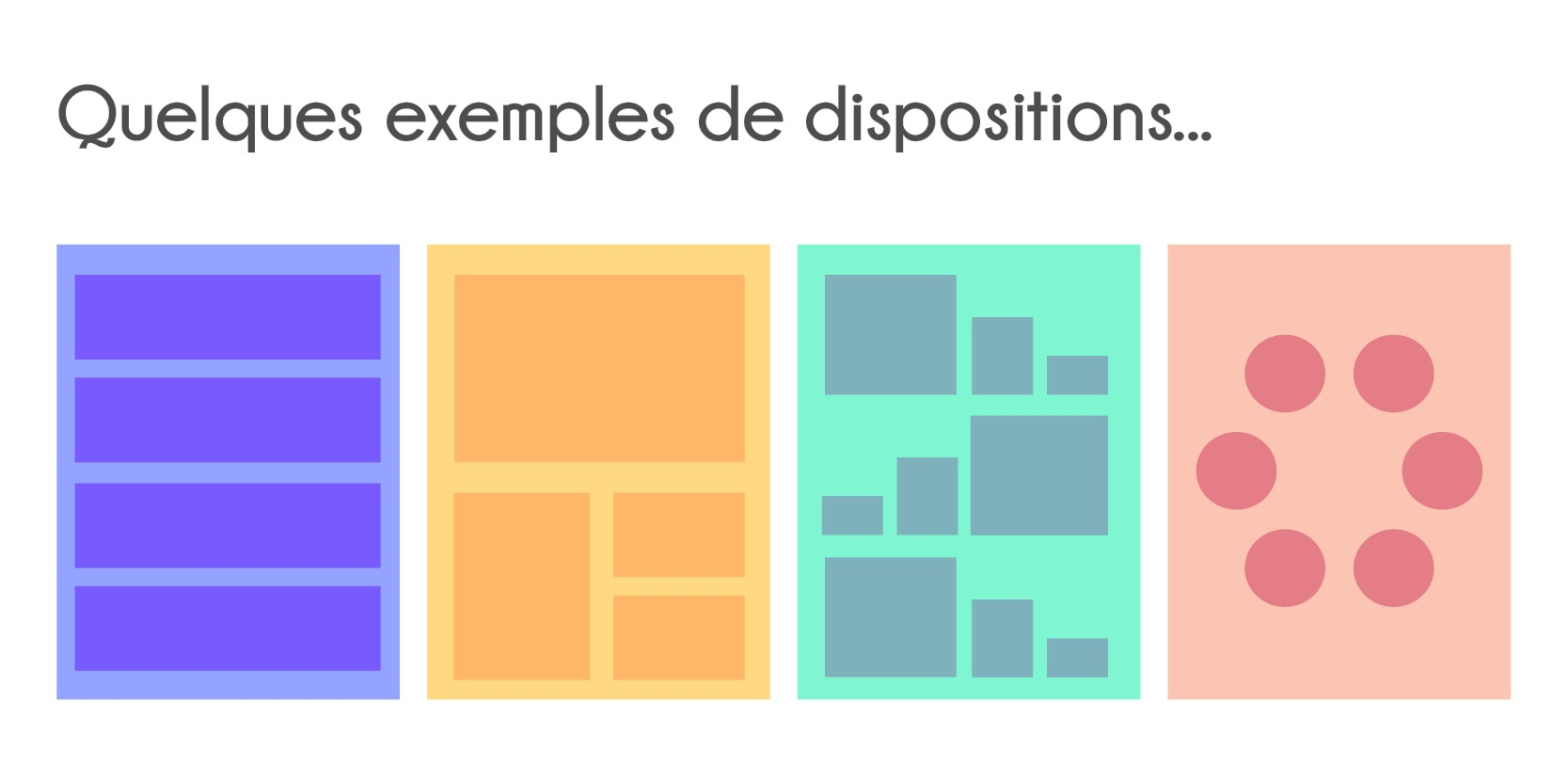 Quelles dispositions choisir pour votre infographie
