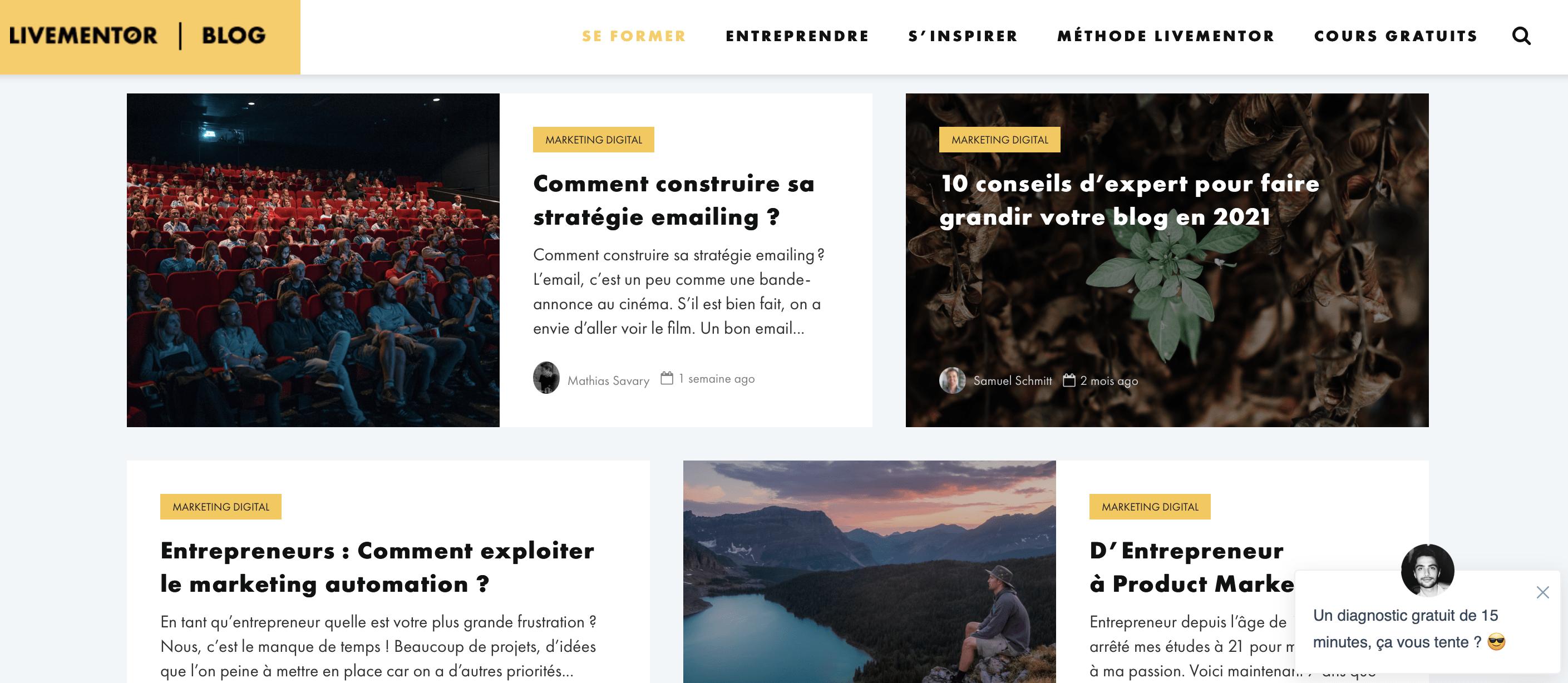 livementor blog social media et stratégie digitale